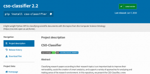 CSO-Classifier available on PIP