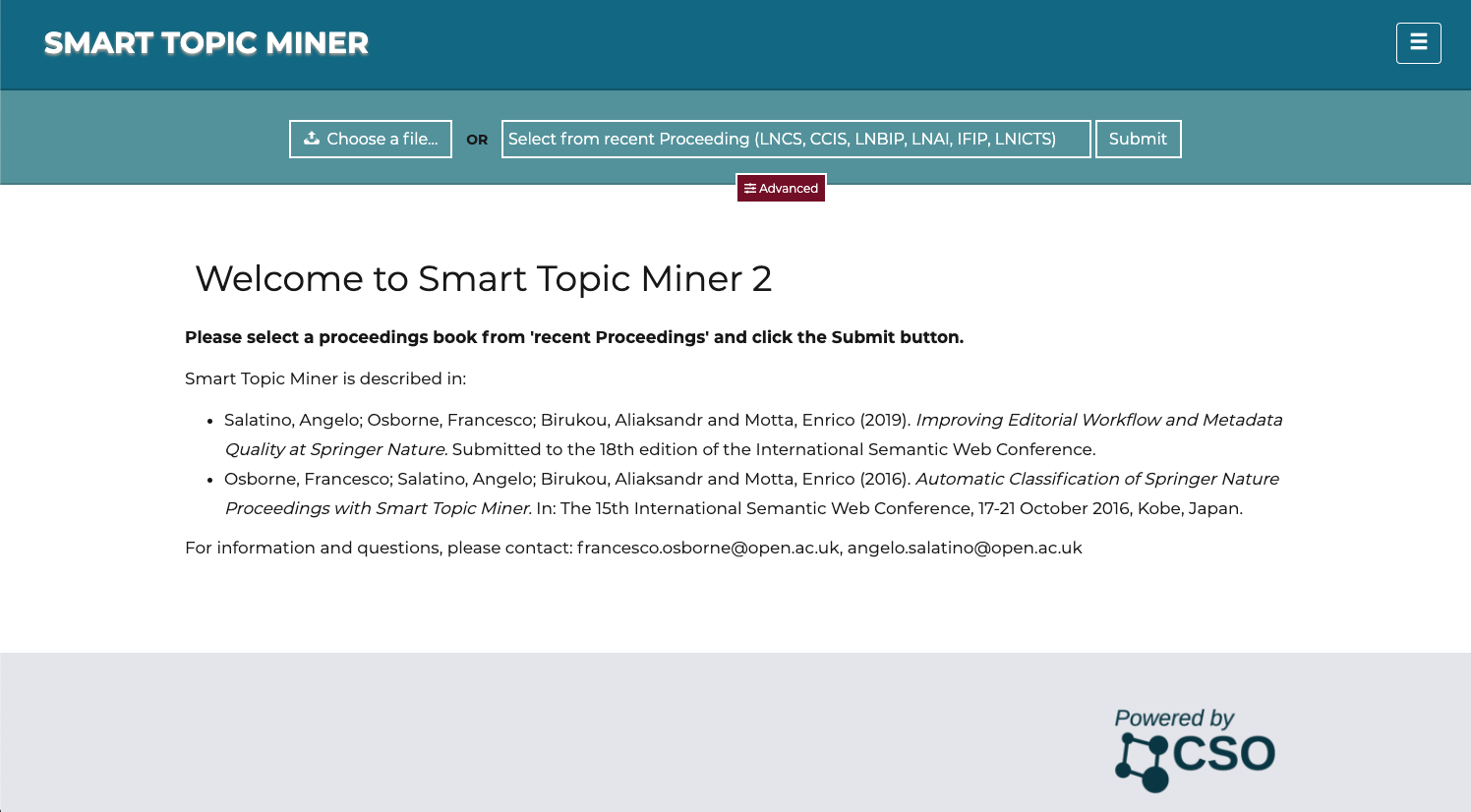 Smart Topic Miner 2 - Improving Editorial Workflow and Metadata Quality at Springer Nature